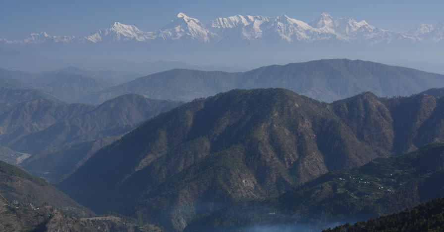a view of the Himalayan mountains